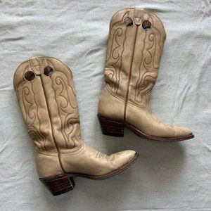 Boulet tan leather cowboy boots size 7.5